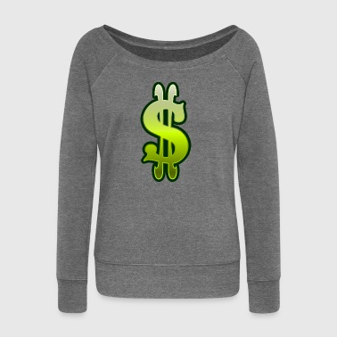 Dollar sign dollar money - Women's Boat Neck Long Sleeve Top