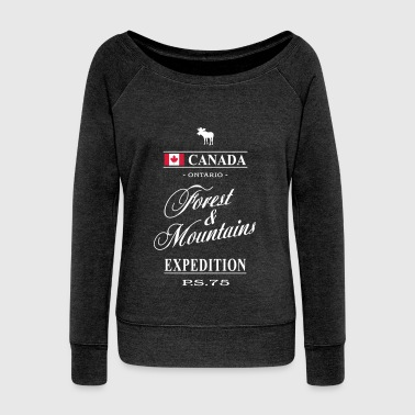 Canada - Ontario - Women's Boat Neck Long Sleeve Top