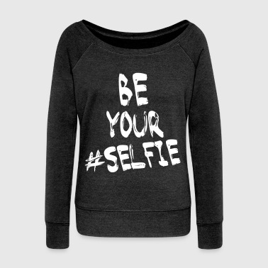 Selfie - Women's Boat Neck Long Sleeve Top
