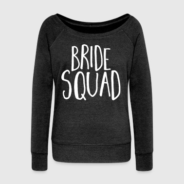 Bride Squad Hen Party  - Women's Boat Neck Long Sleeve Top