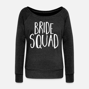 Hen Party Bride Squad Hen Party  - Women's Boat Neck Long Sleeve Top