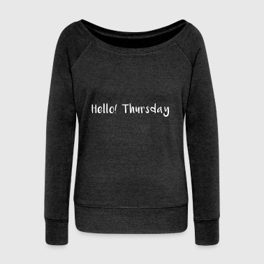 Hello Thursday - Women's Boat Neck Long Sleeve Top