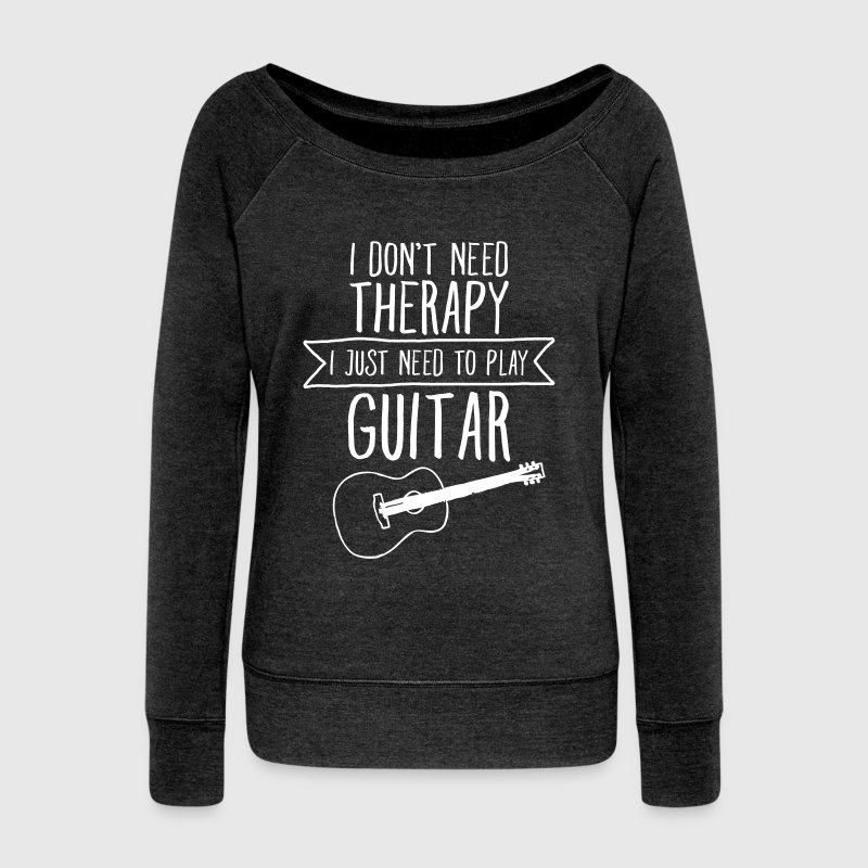 I Don't Need Therapy - I Just Need To Play Guitar - Pull Femme col bateau de Bella