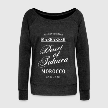 Arabic Desert of Sahara - Women's Boat Neck Long Sleeve Top