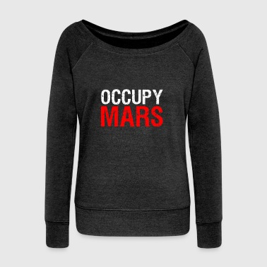 Occupy Occupy Mars - Women's Boat Neck Long Sleeve Top