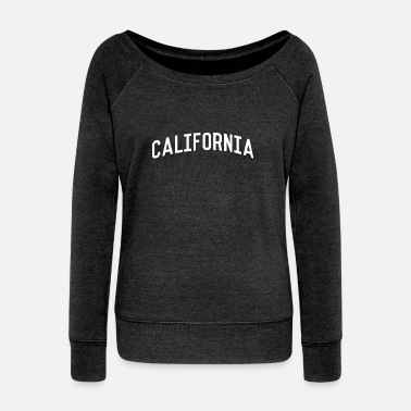 California California - Women's Boat Neck Long Sleeve Top