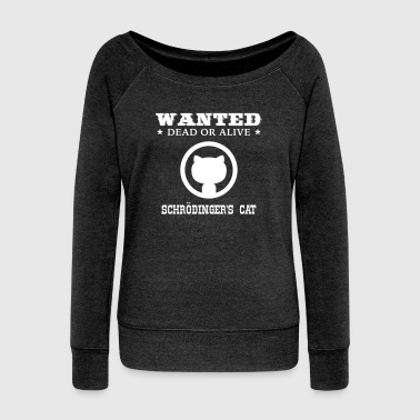 Ultima Geek: Schrödinger's Cat - Women's Boat Neck Long Sleeve Top