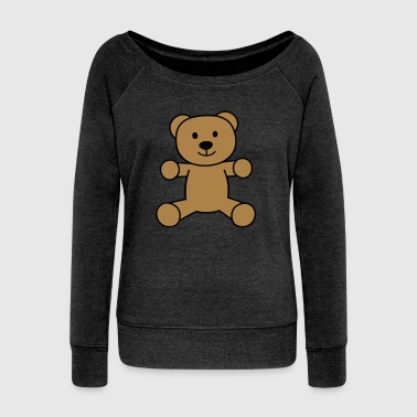 Teddy-bear teddy bear - Women's Boat Neck Long Sleeve Top