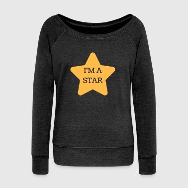 I'm A Star - Women's Boat Neck Long Sleeve Top