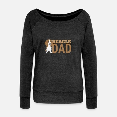 Beagle Dad Favorite Dogs - Gift Idea - Women's Boat Neck Long Sleeve Top