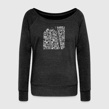 Drawing drawing - Women's Boat Neck Long Sleeve Top
