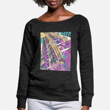 Abstract Fitness / gym / workout - Women's Wide-Neck Sweatshirt