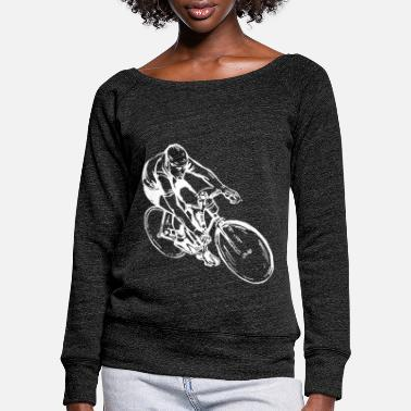Bicycle Bicycling bicycle cyclist - Women's Wide-Neck Sweatshirt