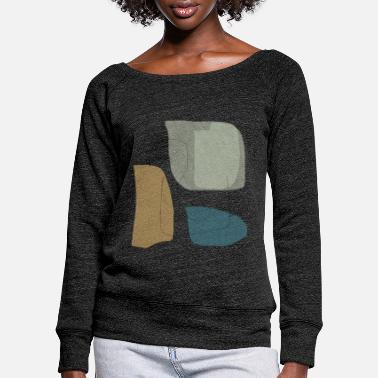 Shape Underwear Minimalistic abstract background N3 - Women's Wide-Neck Sweatshirt