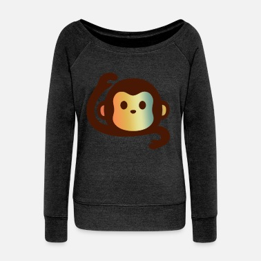 Monkeys MONKEY MONKEY MONKEY MONKEY - Women's Wide-Neck Sweatshirt