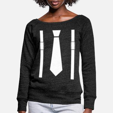 Suspenders SUSPENDER SHIRT - Women's Wide-Neck Sweatshirt