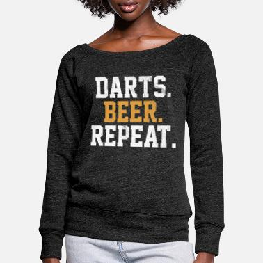 Bar Pub Dart Beer Bar Pub Vintage Arrow - Women's Wide-Neck Sweatshirt