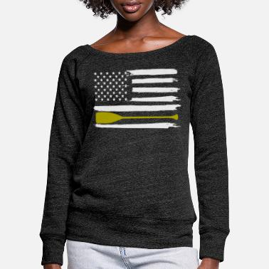 Row Rowing Rowing Rowing - Women's Wide-Neck Sweatshirt