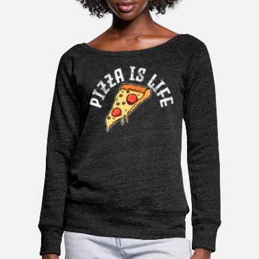 Pizza Pizza Pizza Pizza - Pull col bateau Femme