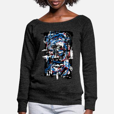 Fantasy Terminator 5000 / Sci fi / Abstract - Women's Wide-Neck Sweatshirt