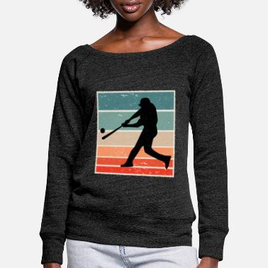 Baseball Baseball Colorful - Women's Wide-Neck Sweatshirt
