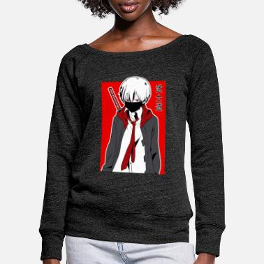 Samurai Warrior Anime - Women's Wide-Neck Sweatshirt