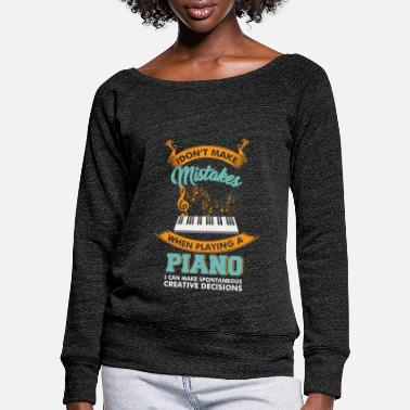 Keyboard Keyboard Gift Synthie Piano Gift Piano - Women's Wide-Neck Sweatshirt