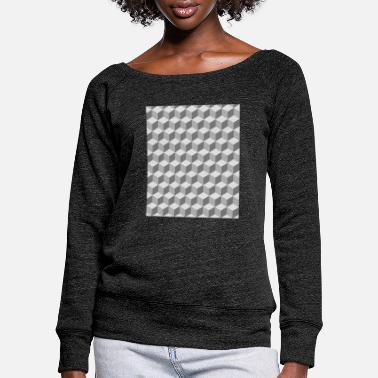 Pattern Block pattern pattern - Women's Wide-Neck Sweatshirt