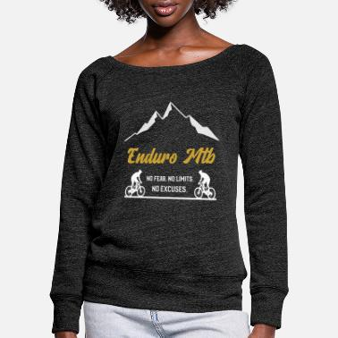 Enduro Mtb - No Fear No Limits No Excuses - Vrouwen U-hals longsleeve