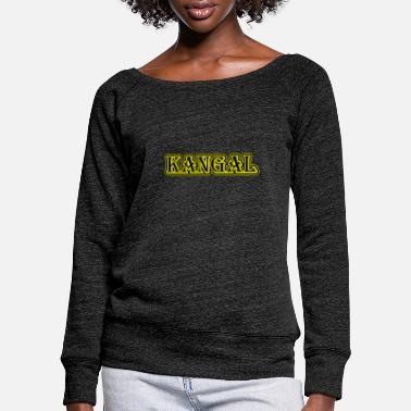 Kangal dog - Women's Wide-Neck Sweatshirt