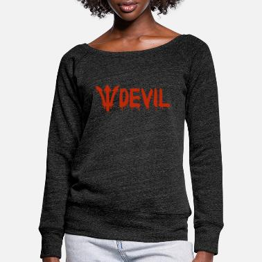 Devil Male Devil - Devil - Women's Wide-Neck Sweatshirt
