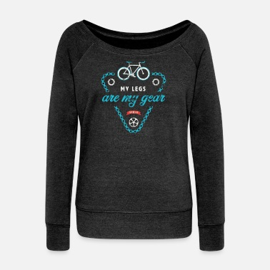 Single Speed Single Speed Fixie - Mine ben er mit gear - Sweatshirt med ubåds-udskæring dame