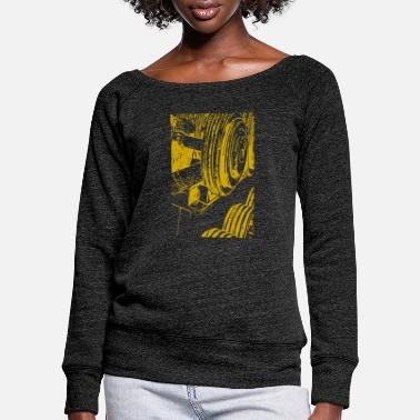 Weights weights - Women's Wide-Neck Sweatshirt