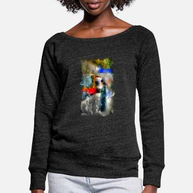 Tain Wait for the tain 2 - Women's Wide-Neck Sweatshirt