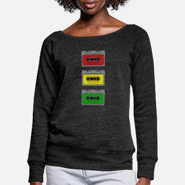 Casket Casket traffic light - Women's Wide-Neck Sweatshirt