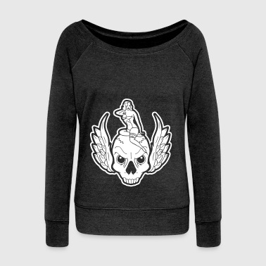 SKULL RIDER - Women's Boat Neck Long Sleeve Top