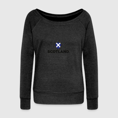 National Flag Of Scotland - Women's Boat Neck Long Sleeve Top