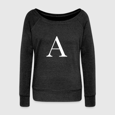 Letter a - Women's Boat Neck Long Sleeve Top