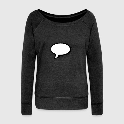 Speech Bubble - Felpa con scollo a barca da donna, marca Bella