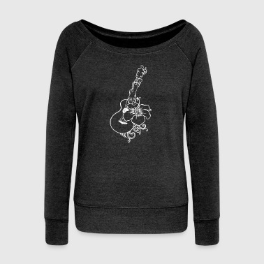Ukulele - Women's Boat Neck Long Sleeve Top