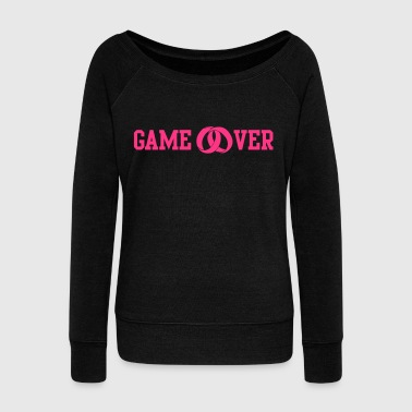 game over - Women's Boat Neck Long Sleeve Top