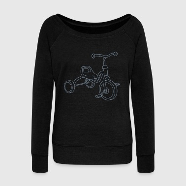 Tricycle for kids - Women's Boat Neck Long Sleeve Top