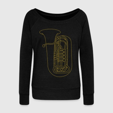 TUBA brass - Women's Boat Neck Long Sleeve Top