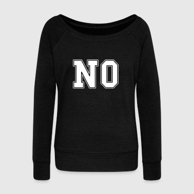 NO college - Women's Boat Neck Long Sleeve Top