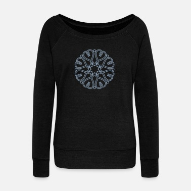 Open opening - Women's Boat Neck Long Sleeve Top