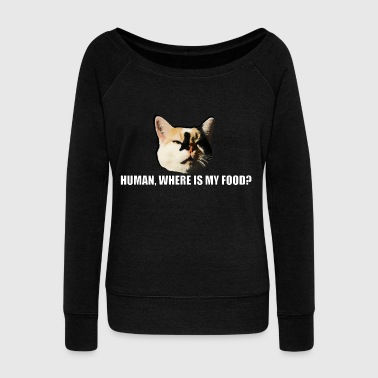 Meme cat meme - Women's Boat Neck Long Sleeve Top