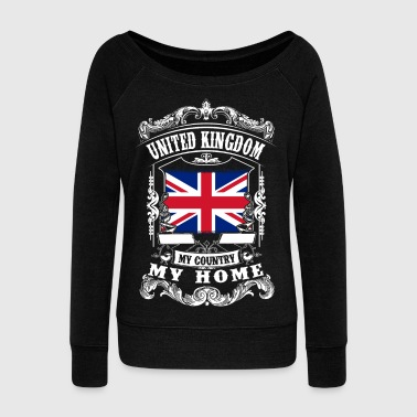 I Love London United Kingdom - My country - My home - Women's Boat Neck Long Sleeve Top