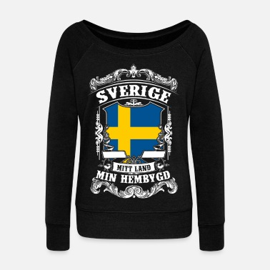 Sweden Sverige - Sweden - Schweden - Women's Boat Neck Long Sleeve Top