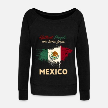 Mexico Mexico - Women's Boat Neck Long Sleeve Top