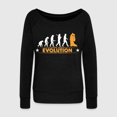 Marriage - evolution - Women's Boat Neck Long Sleeve Top